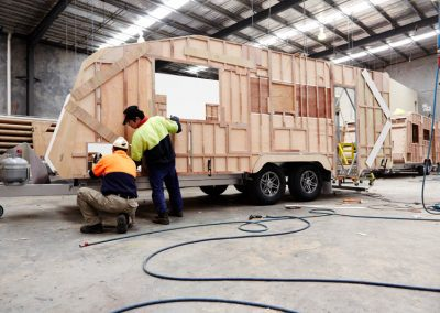 twin axle tourister starts to take shape