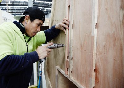 starting to construct the side panels of your caravan